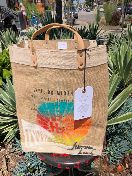 HERMOSA BEACH Market Bag - Local Artist Series featuring DRICA LOBO - HB Pier