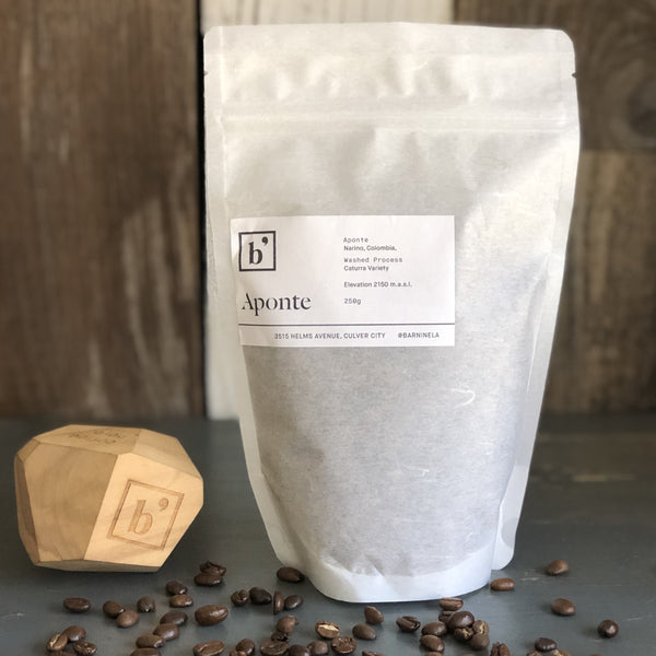 Aponte - whole bean coffee by Bar Nine