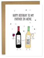 HAPPY BIRTHDAY - PARTNER IN WINE