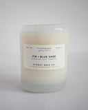 FIR + BLUE SAGE (14 oz Tumbler Candle)