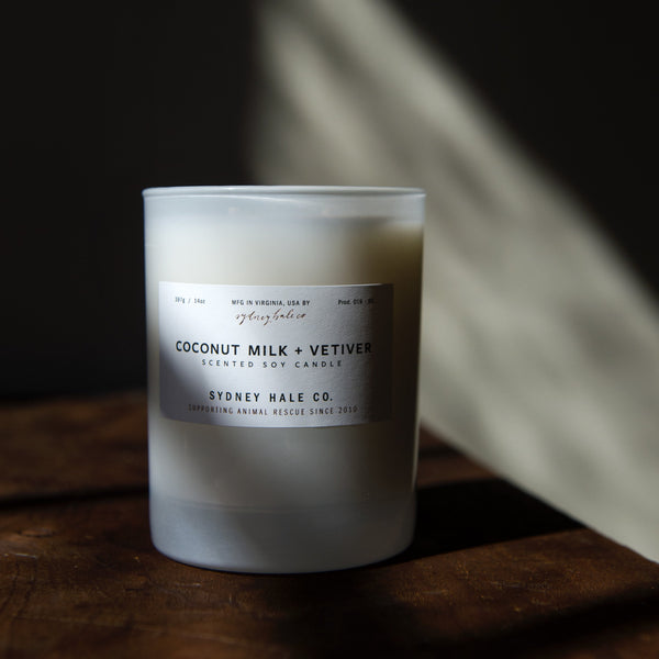 COCONUT MILK + VETIVER (14 oz Tumbler Candle)
