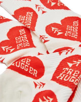 Tree Hugger Sock - White and Red