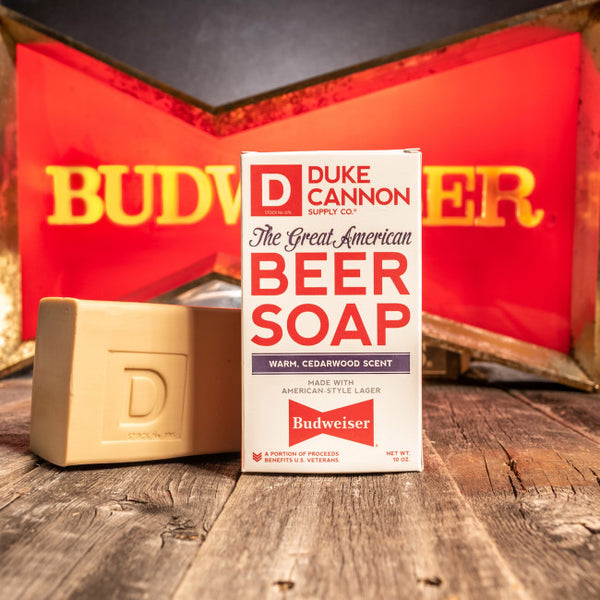 BIG ASS BRICK OF GREAT AMERICAN BEER SOAP - MADE WITH BUDWEISER