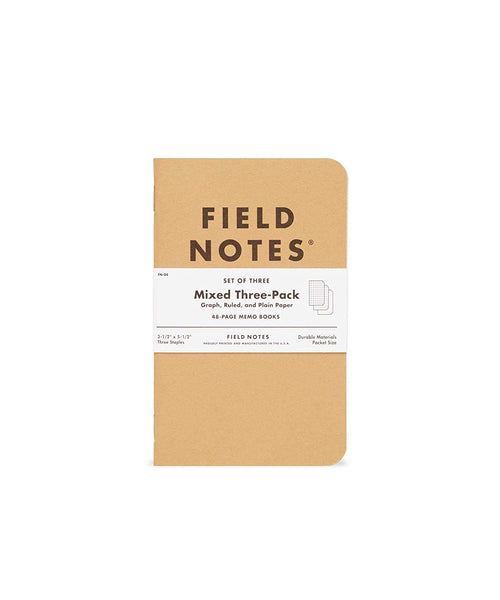 FIELD NOTES MEMO BOOKS – MIXED THREE PACK (Set of Three)