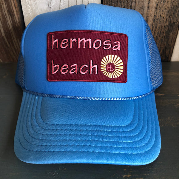 Hermosa Beach WELCOME SIGN Trucker Hat - Col. Blue