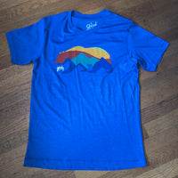 CALIFORNIA BEAR Tee - Heather Royal Blue