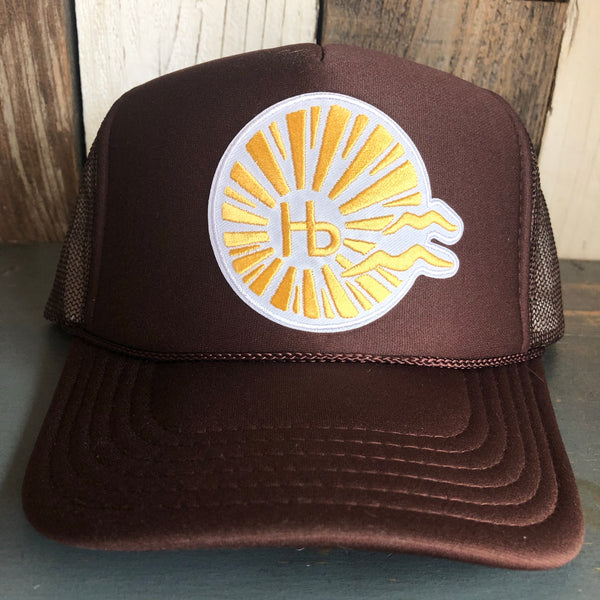 Hermosa Beach CLASSIC LOGO Brown Trucker Hat