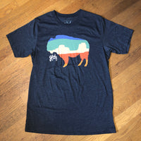 AMERICAN BUFFALO Tee - Heather Grey