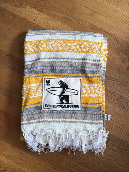 Baja Blanket - Yellow/White/Grey