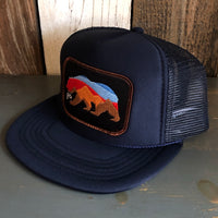 Sunset Bear Navy Trucker (Brown Border)