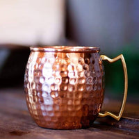 Shiny Hammered Copper Mug by Butte Copper Company