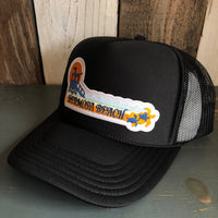 Hermosa Beach GOLDEN HOUR Black Trucker Hat