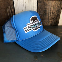 Hermosa Beach SURFING GRIZZLY BEAR Col. Blue Trucker Hat