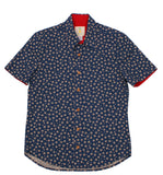 Fitted Aloha Shirt - Sakura Indigo