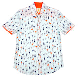 Fitted Aloha Shirt - Seagulls in Sweaters