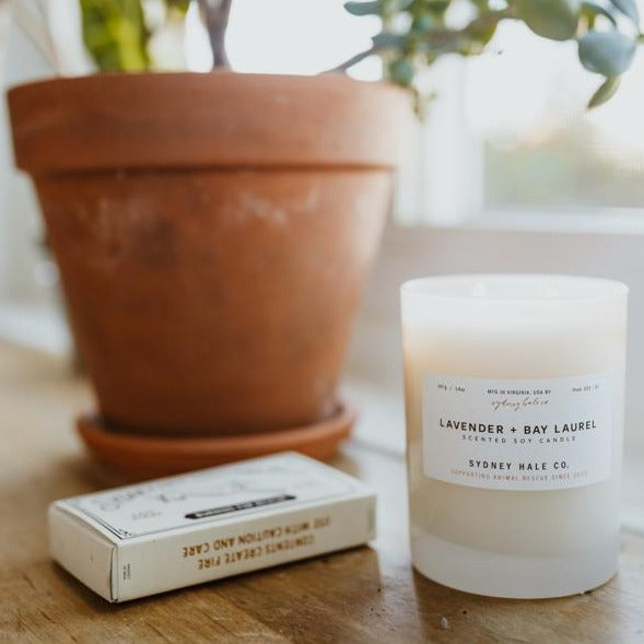 LAVENDER + BAY LAUREL (14 oz Tumbler Candle)