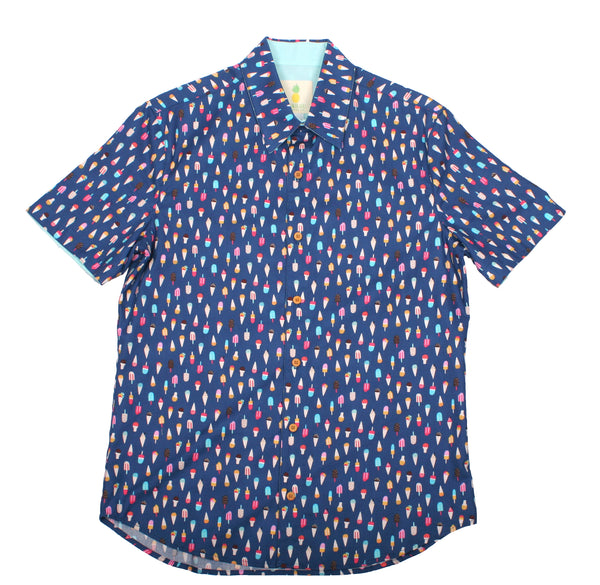 Fitted Aloha Shirt - Treat Yo'self