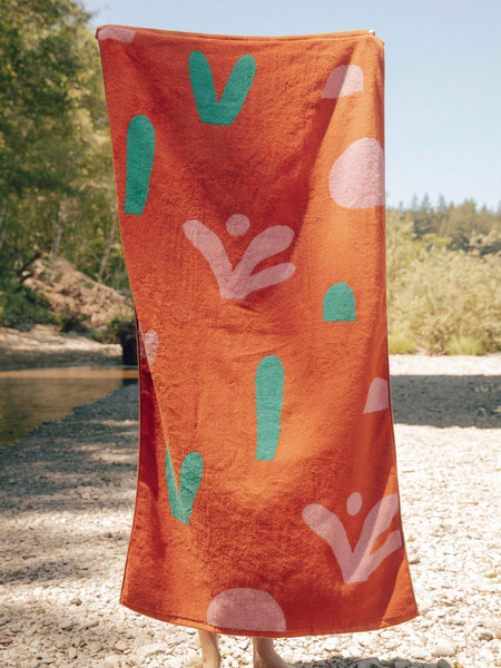Napes Towel - Dark Orange