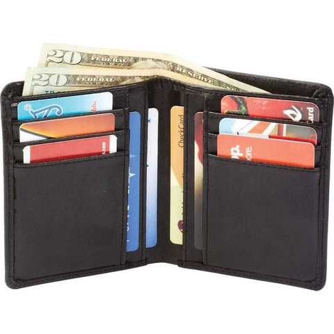 Mens (Black) Genuine Leather Bi-Fold Wallet