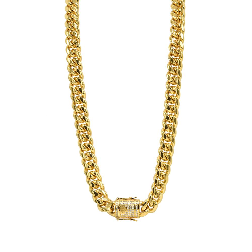 Made in New York City, our beautiful brass gold plated cuban link necklace. Available in Gold & Silver.