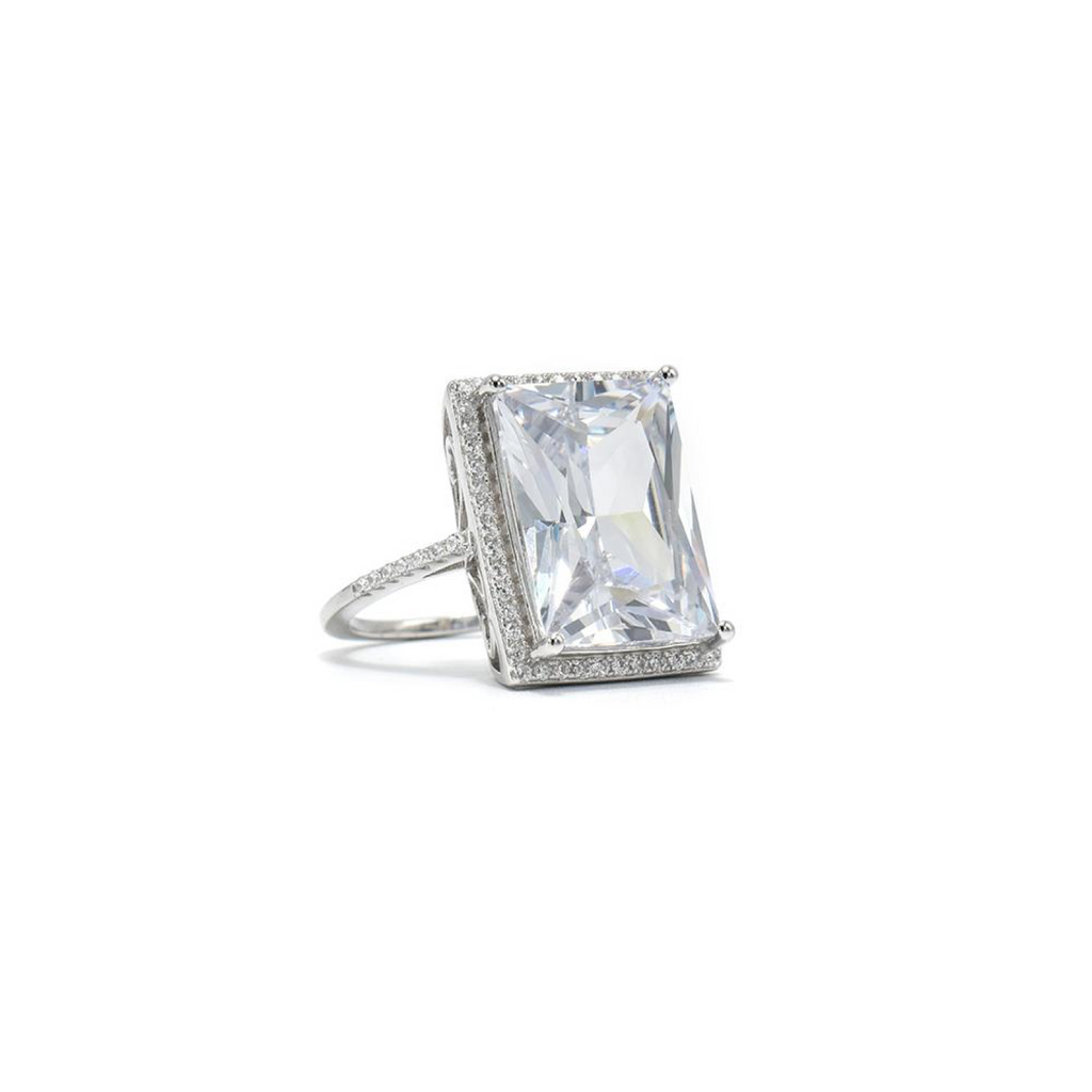 Made in New York City, our beautiful classic ring is 925 Sterling silver. Hypoallergenic.