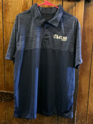 Stan's golf shirt (blue two toned)