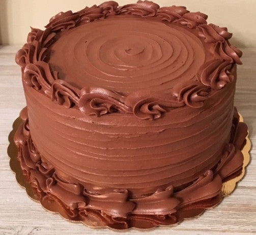 White Cake with Chocolate Buttercream