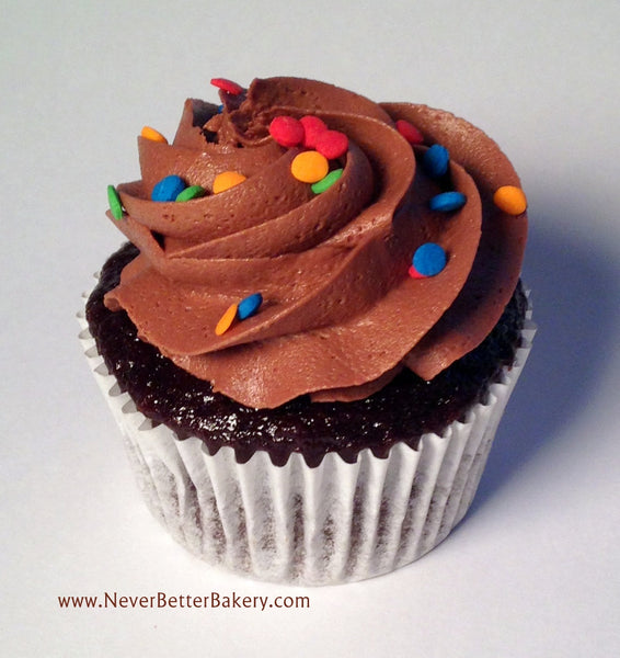 Chocolate Cupcake with Chocolate Buttercream and Birthday Sprinkles
