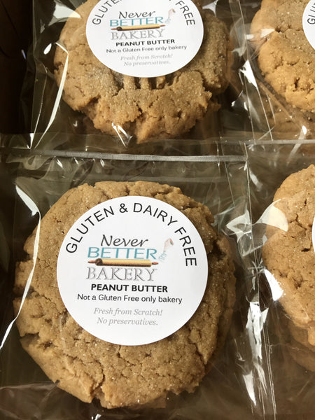 Peanut Butter Cookies-GLUTEN and DAIRY FREE