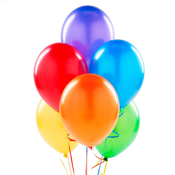 Multi-Color Latex Balloons (Primary Multi-Color)