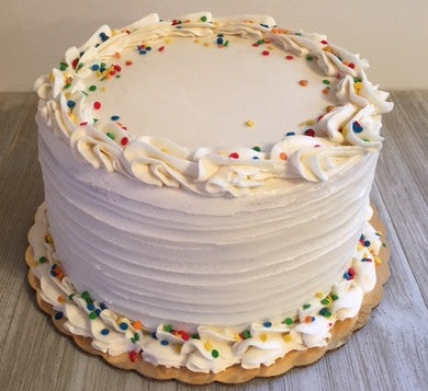 Birthday Party Cake with Vanilla Buttercream