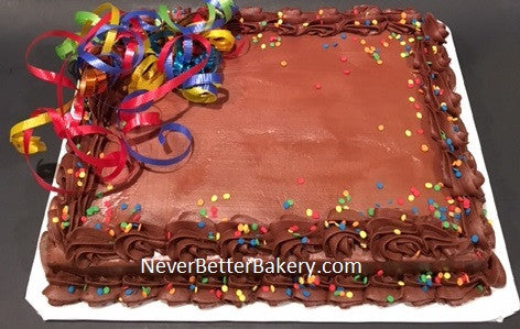 Birthday and Ribbon Sheet Cakes