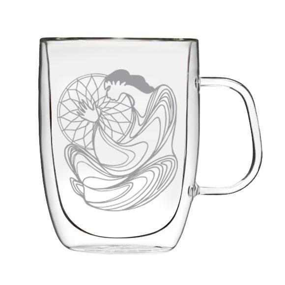 Maxine Noel Dreamcatcher Double-Wall Glass Mug