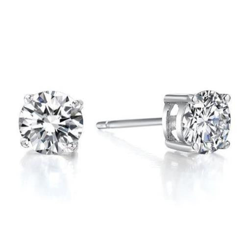 Solitaire Studs, Crystal Studs Earrings, Brilliant Cut Studs
