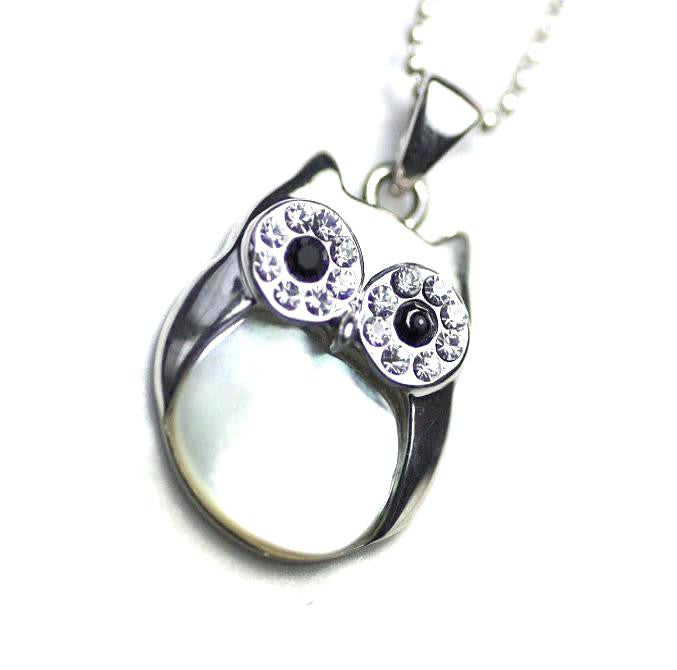 Lovely Owl, Jewellery For Her, Owls Pendant Necklace