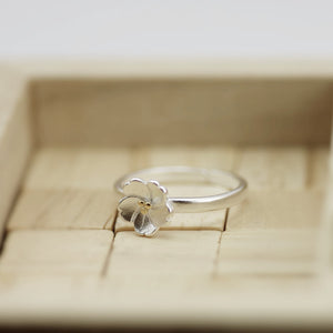 Silver Flower Ring, Sakura Flower Ring