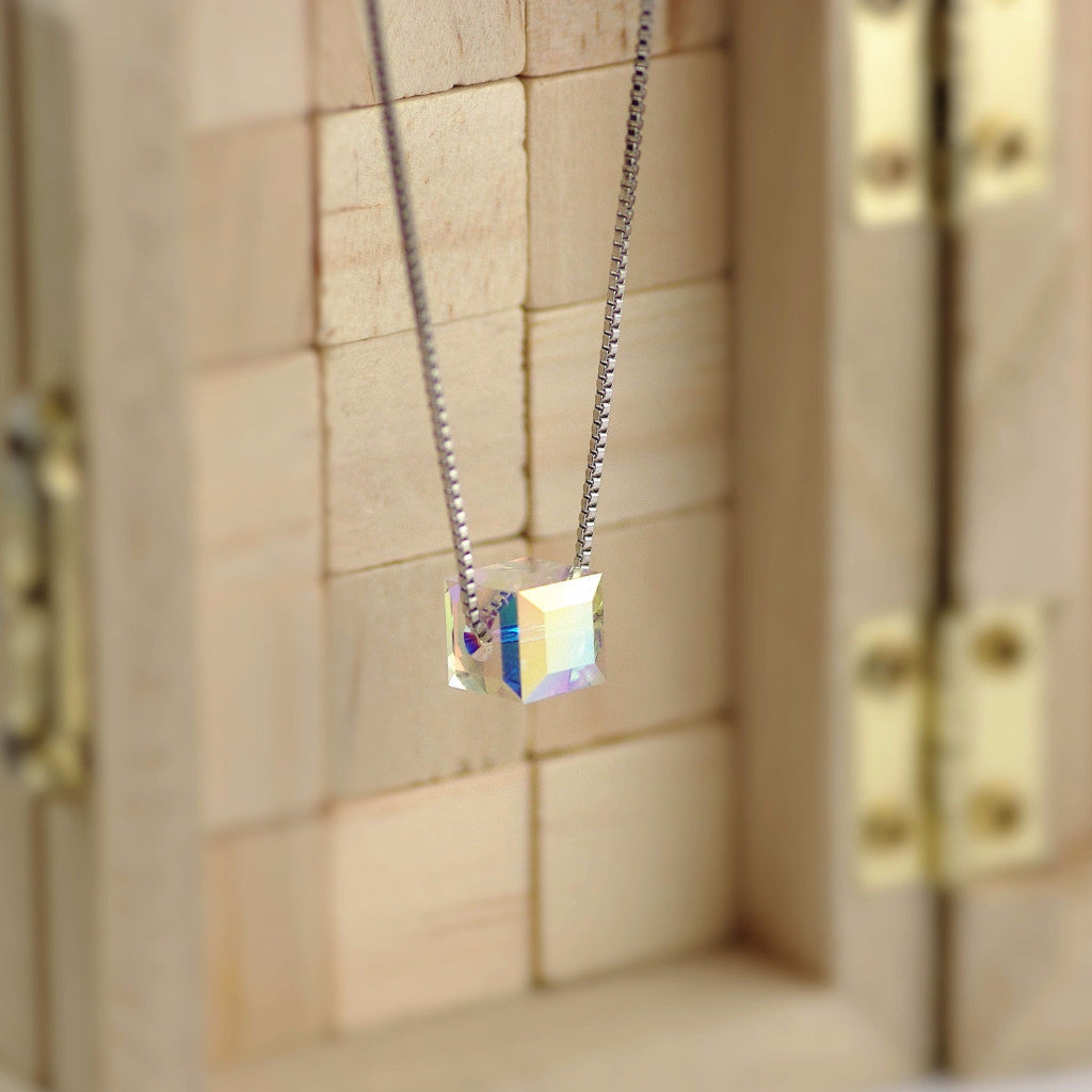 Single Stone Cubic Crystal Necklace