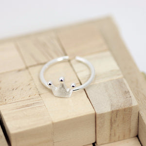 Simple Crown Ring, Silver Ring