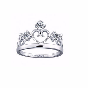 Crown Ring,  Tiara Bridal Ring, Princess Ring