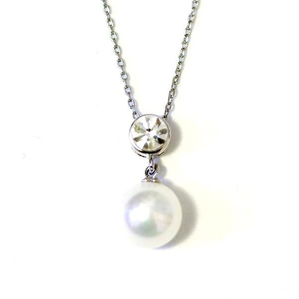 Lovely solid pearl necklace, ivory cream pearl