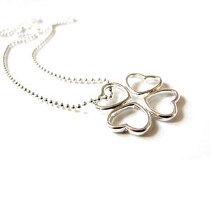 925 Sterling Silver Clover Necklace, Lucky Necklace