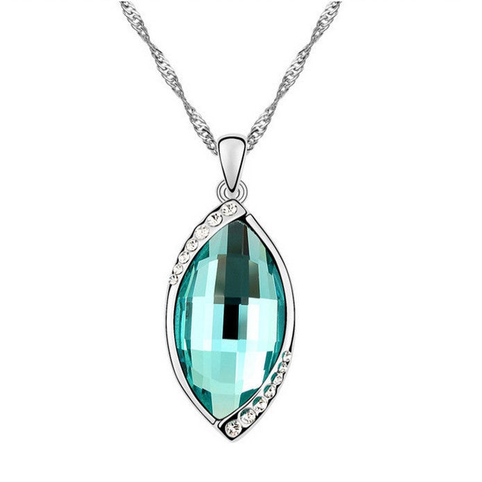 18K Auralite Aqua-Marine Crystal Necklace