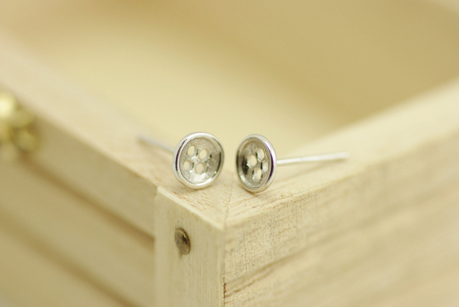 Button Studs Earrings