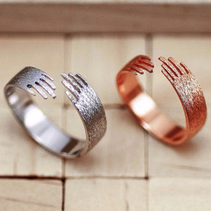 Huggie Finger Band in Satin or Rose Silver, .925 Sterling Silver