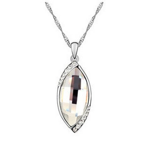 18K Auralite Snow White Crystal Necklace