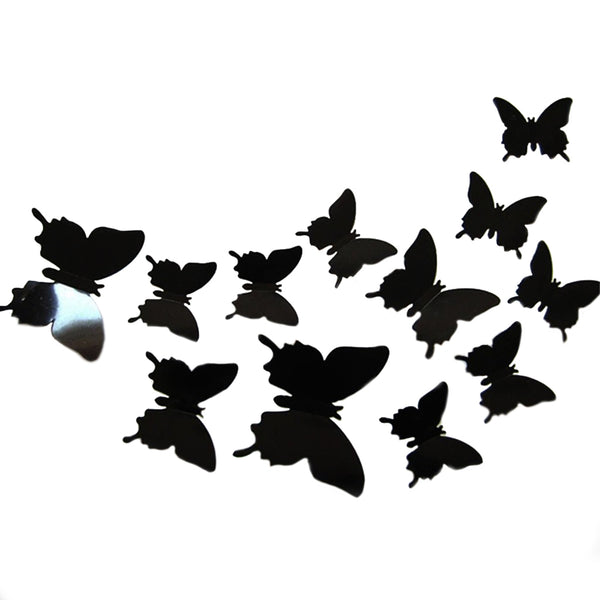Set Stickers Mariposas 3D Negras