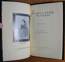 Load image into Gallery viewer, Mayfield, John S. Sidney Lanier in Texas