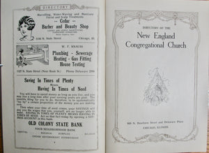 Directory of the New England Congregational Church, 1928, Chicago