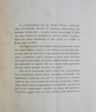 Load image into Gallery viewer, Ward, Wilfrid. Vaticano e Quirinale (Dalla Fortnightly Review di Londra), Marzo 1899