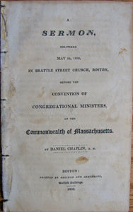 Chaplin, Daniel. A Sermon, delivered May 26, 1808 [Duties & Requirements of Gospel Ministers]